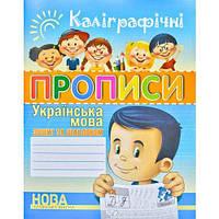 Українська мова  Каліграфічні прописи (Шинкаренко)