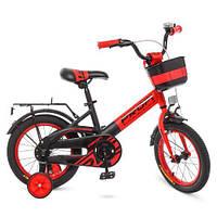 Велосипед дитячий 14 д. W14115-5 Profi червоно-чорний матовий