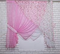 Комплект кухонные шторки с подвязками, №063к (е847), фото 1