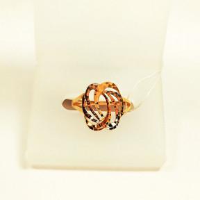 Золотое кольцо с алмазной гранью Бесконечность