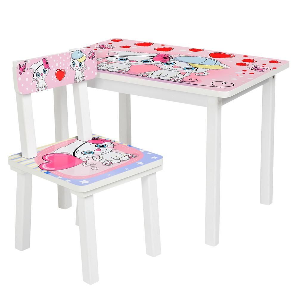 Детский стол со стульчиком Bambi BSM2K-22 Котята