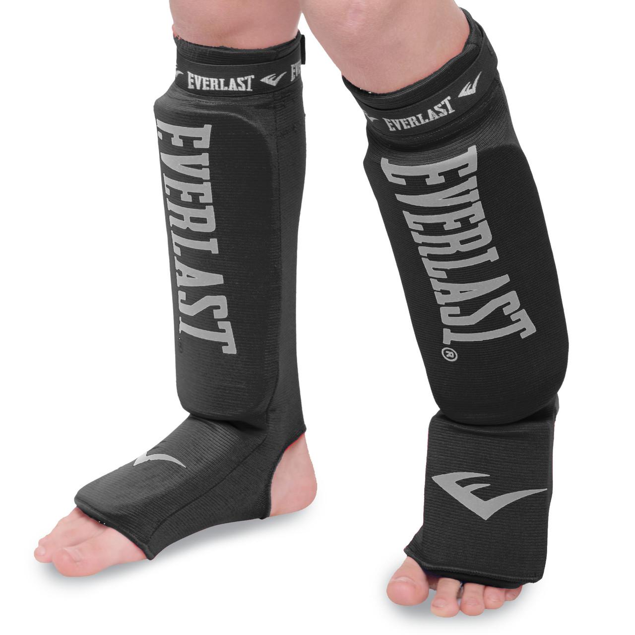 Защита для ног голени и стопы чулочного типа EVERLAST MA-4613 (XS, Черный)