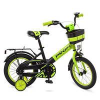 Велосипед дитячий 14 д. Profi W14115-6 зелено-чорний матовий