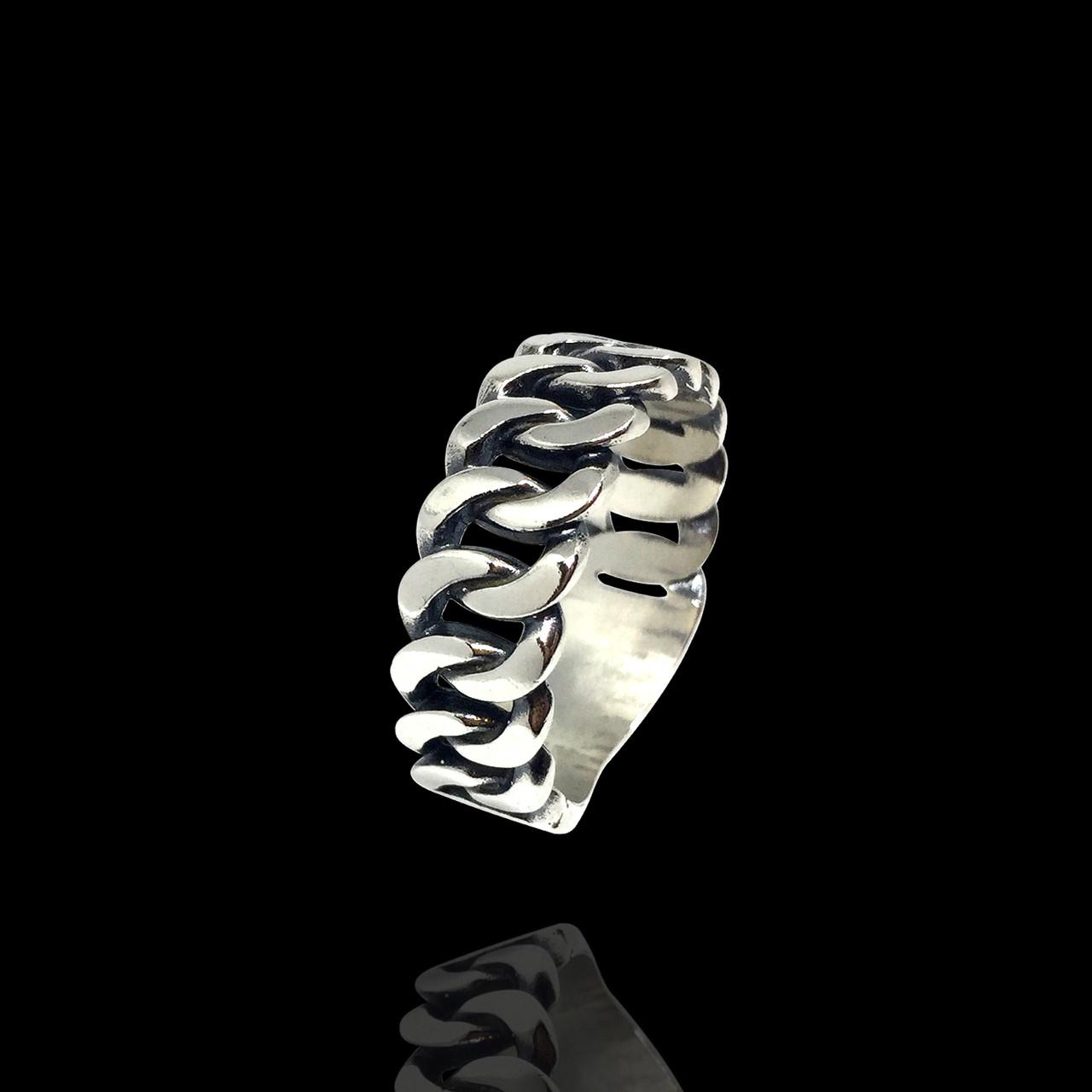 Серебряное кольцо Панцирь