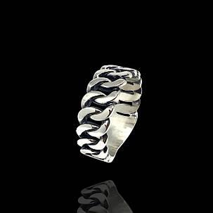 Срібне кільце Панцир, фото 2