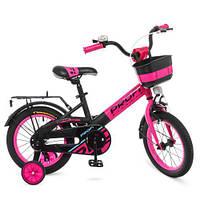 Велосипед дитячий 14 д. Profi W14115-7 рожево-чорний матовий