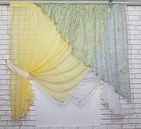 Комплект кухонные шторки с подвязками, №063к (е860), фото 1