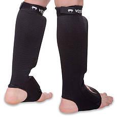 Защита для ног голени и стопы чулочного типа VENUM MA-6239  (L, Черный-белый), фото 2
