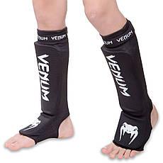 Защита для ног голени и стопы чулочного типа VENUM MA-6239  (L, Черный-белый), фото 3