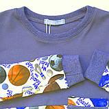 Пижама для мальчика, интерлок 100% хлопок SmileTime Sport Time, индиго, фото 3