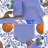 Пижама для мальчика, интерлок 100% хлопок SmileTime Sport Time, индиго, фото 4