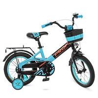 Велосипед дитячий 14 д. Profi W14115-8 чорно - бірюзовий матовий