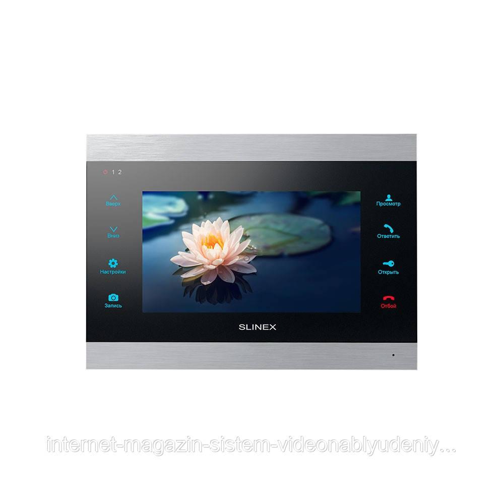 Видеодомофон Slinex  SL-07 IP с LCD сенсорным дисплеем Серебристо-черный
