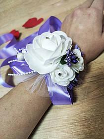 Браслет для дружки Bouquet Rose. Колір ліловий.