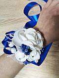 Браслет для свидетельницы Bouquet Rose. Цвет синий., фото 2