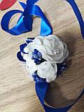 Браслет для свидетельницы Bouquet Rose. Цвет синий., фото 3