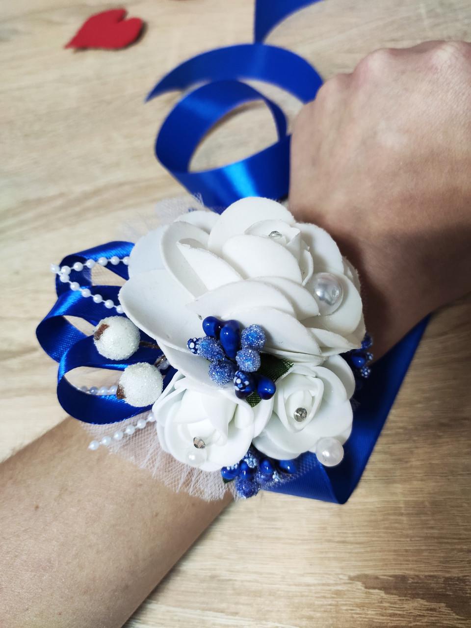 Браслет для свидетельницы Bouquet Rose. Цвет синий.