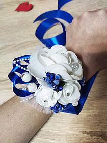 Браслет для дружки Bouquet Rose. Колір синій.