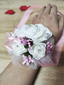 Браслет для дружки Bouquet Rose. Колір рожевий.