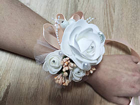Браслет для дружки Bouquet Rose. Колір персиковий.