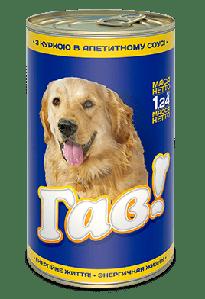 ГАВ 1,240 кг. Консервированный корм для взрослых собак «С курицей в соусе»