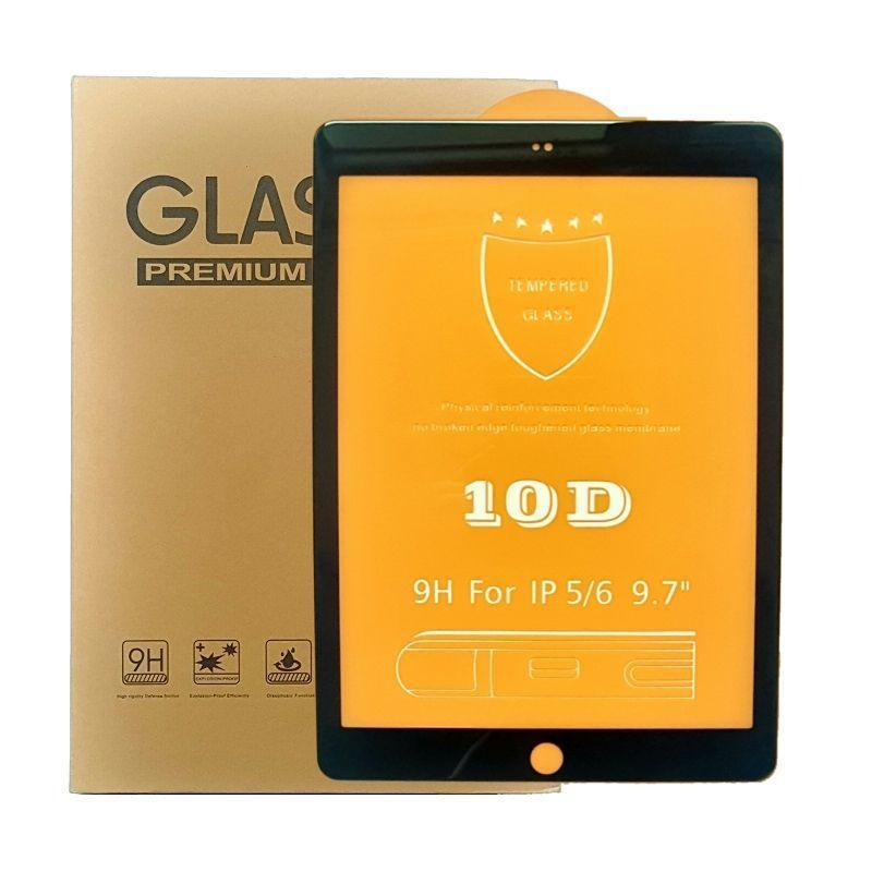 Защитное стекло 10D для iPad Air / Air 2 / 2017 / 2018 (9.7 дюймов) черное