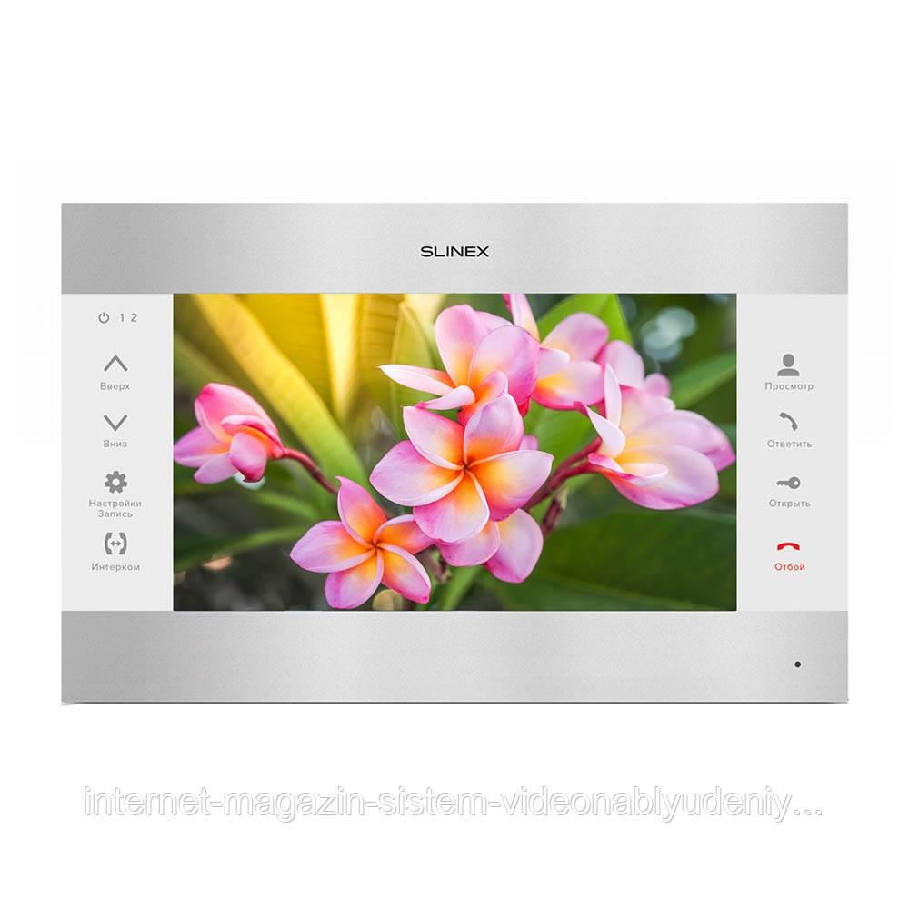 Цветной видеодомофон Slinex SL-10М Серебристо-белый
