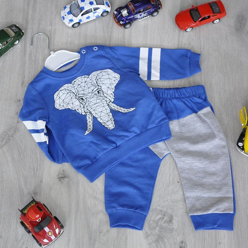 Детский трикотажный костюм (кофточка+штанишки), размер: 6-9-12-18 мес (4 ед в уп)