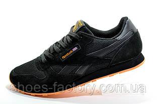 Кроссовки мужские в стиле Reebok Classic Leather, Black\Orange