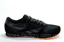 Кроссовки мужские в стиле Reebok Classic Leather, Black\Orange, фото 2