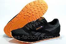 Кроссовки мужские в стиле Reebok Classic Leather, Black\Orange, фото 3