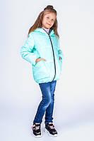 Детская куртка для девочки с капюшоном и боковыми карманами