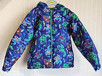 Куртка детская демисезонная яркая Marvel Comics (Размер 116-122, 6 лет)