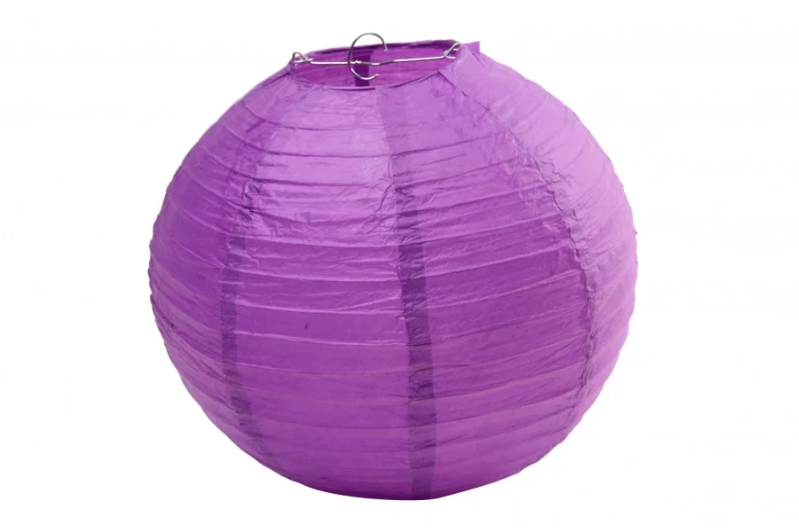 Бумажный подвесной шар фиолетовый, 30 см.