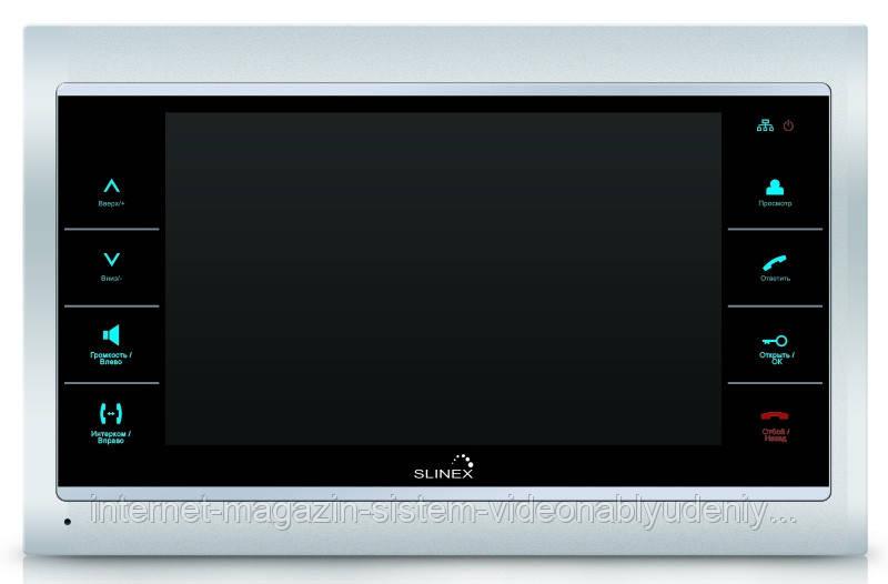 Цветной IP-видеодомофон  Slinex SL-10 IP  Серебристо-черный