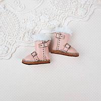 Обувь для кукол Кожаные Сапожки 35*18 мм РОЗОВЫЕ, фото 1