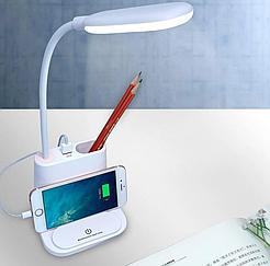 Настольный светильник, Лампа LED, Лампа с держателем для телефона Multifunctional Desk Lamp
