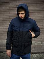 Парка мужская весенне-осенняя WaterProof x black-navy | куртка демисезонная ЛЮКС качества