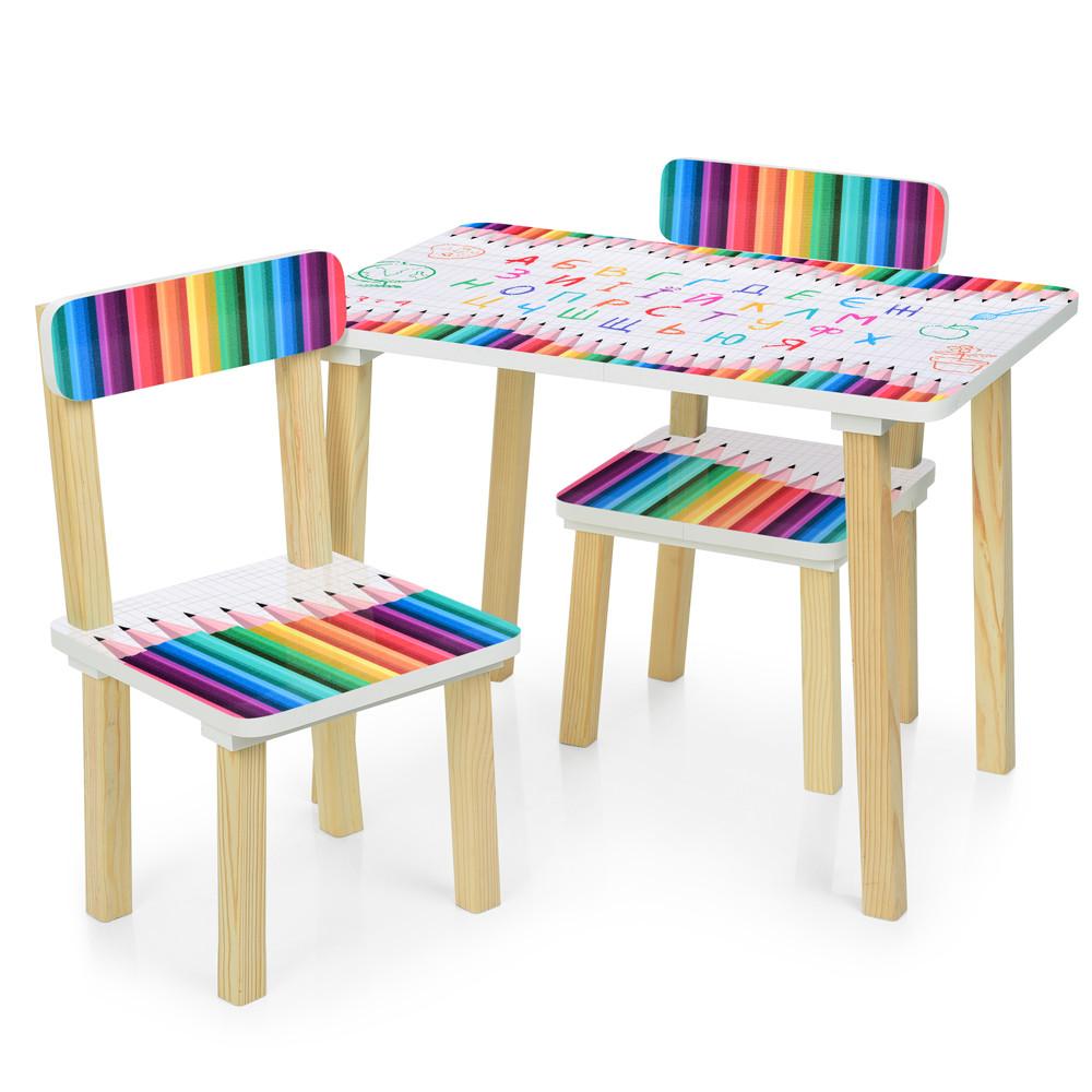 Детский стол с двумя стульчиками Bambi 501-77 Карандаши