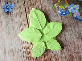 """Молд """"Листья розы (шиповника)"""" (р-р 3х2 см, 2,7х1,7 см, 2х1,2 см)"""