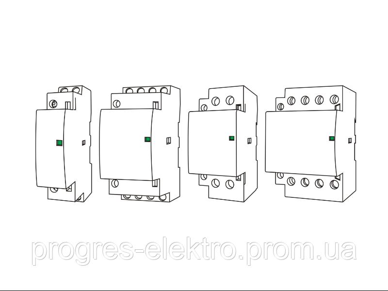 Модульный контактор MCF3 2p 16A 2NO 230V Promfactor