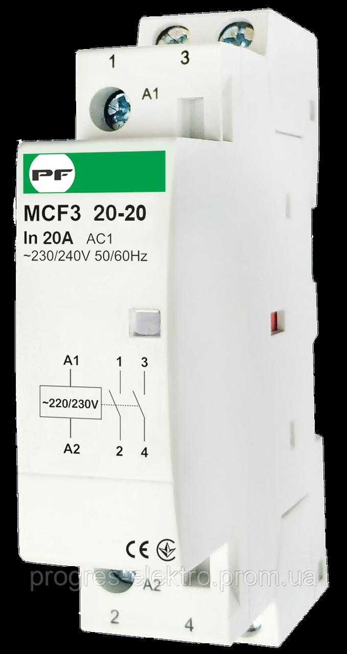 Модульный контактор MCF3 2p 20A 2NO 230V Promfactor