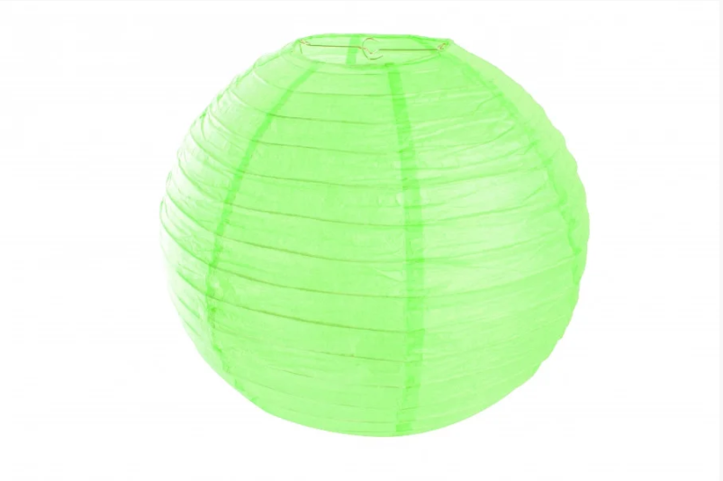 Бумажный подвесной шар салатовый, 30 см.
