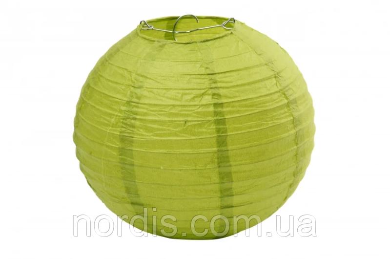 Бумажный подвесной шар оливковый, 30 см.