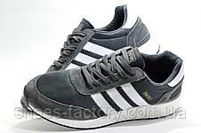 Мужские кроссовки в стиле Adidas Originals Iniki Runner, Gray\White, фото 3