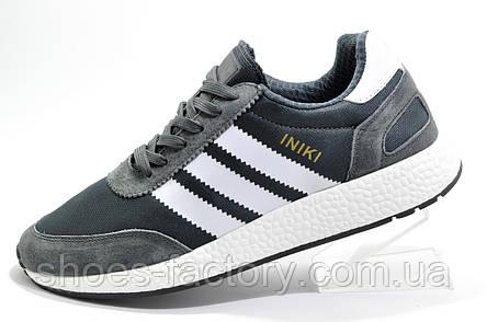 Мужские кроссовки в стиле Adidas Originals Iniki Runner, Gray\White, фото 2