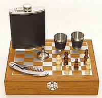 Мужской подарочный набор с флягой и шахматами Jack Daniels