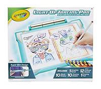 Планшет с лед подсветкой для рисования бирюзовый Crayola Light-up Tracing Pad