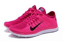 Женские беговые кроссовки Nike Free Run Flyknit 4.0 розовые Р. 36
