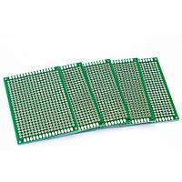 PCB 4x6 см двухсторонняя печатная плата
